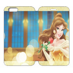 "Disney Princesses (Belle) Wallet Case w/ Stand Flip Cover for iPhone 6 (4.7"")"