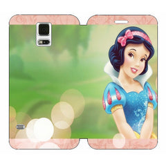 Disney Princesses (Snow White) Wallet Case w/ Stand Flip Cover for Samsung Galaxy S5