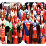 "ALEX ROSS JUSTICE LEAGUE WALLET CASE W/ STAND FLIP COVER FOR IPHONE 6 (4.7"")"