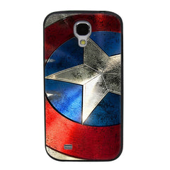 Captain America Shield TPU Soft Shell Jelly Silicon Case for Samsung Galaxy S4