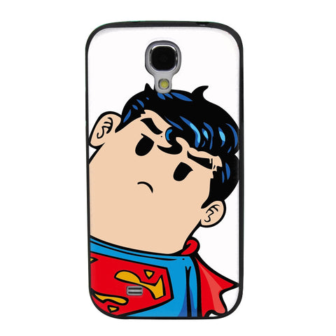 Tilted Animated Superman TPU Soft Shell Jelly Silicon Case for Samsung Galaxy S4