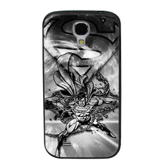 Superman Black & White Chains TPU Soft Shell Jelly Silicon Case for Samsung Galaxy S4