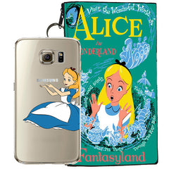 Disney's Alice in Wonderland Jelly Clear Case For Samsung Galaxy S7 + Pouch