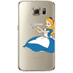 Disney's Alice in Wonderland Jelly Clear Case for Samsung Galaxy S7