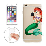 Disney's Little Mermaid Ariel Jelly Clear Case For Apple Iphone 7