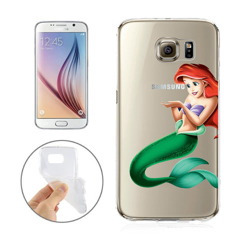 outlet store bedf1 be009 Disney's Little Mermaid Ariel Jelly Clear Case for Samsung Galaxy S7 Edge