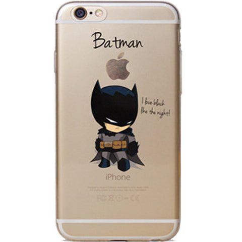 Batman Jelly Clear Case for Apple iPhone 7 PLUS