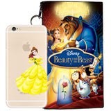 Disney's Beauty and the Beast Belle Jelly Clear Case For Apple Iphone 6/6s PLUS + Pouch