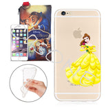 Disney's Beauty and the Beast Belle Clear Case For Apple Iphone + Pouch (iPhone 5/ 5s /SE, 6/6s, 6 PLUS)