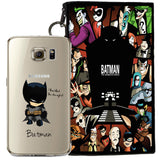 Batman Jelly Clear Case For Samsung Galaxy S7 + Pouch