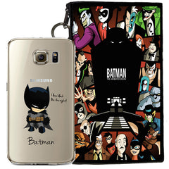 Batman Jelly Clear Case For Samsung Galaxy S6 + Pouch