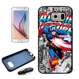 Captain America TPU+PC Case For Samsung Galaxy S6