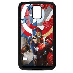 Captain America vs. Iron Man (Civil War) TPU+PC Case For Samsung Galaxy S5