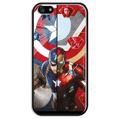 "Captain America vs. Iron Man (Civil War) TPU+PC Case For Apple iPhone 6/6s PLUS (5.5"")"
