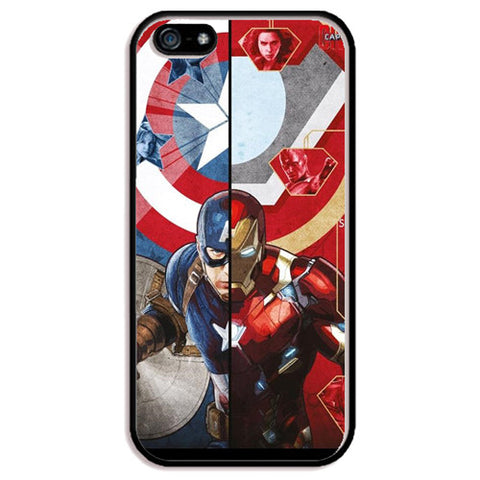 "Captain America vs. Iron Man (Civil War) TPU+PC Case For Apple iPhone 6/6s (4.7"")"
