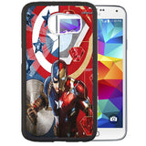 Captain America vs. Iron Man (Civil War) TPU+PC Case For Samsung Galaxy S6