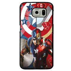 Captain America vs. Iron Man (Civil War) TPU+PC Case For Samsung Galaxy S7