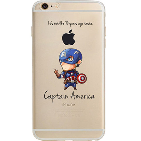 Captain America Jelly Clear Case for Apple iPhone 7