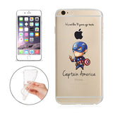 "Captain America Jelly Clear Case for Apple iPhone 6/6s PLUS (5.5"")"