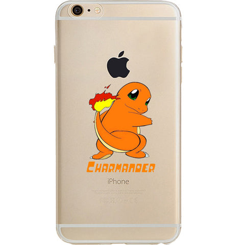 Pokemon Charmander Jelly Clear Case For Apple Iphone 6/6s PLUS (5.5-Inch)