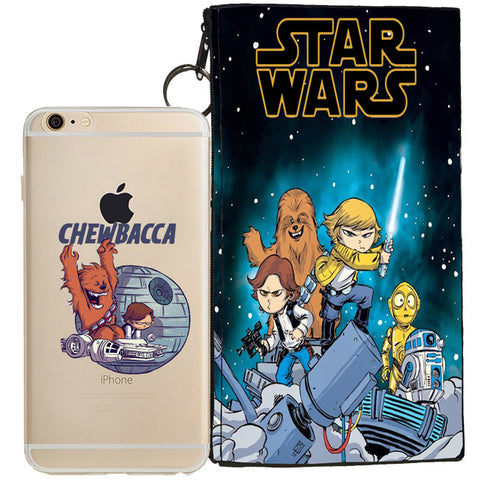 Star Wars (Chewbacca) Jelly Clear Case For Apple Iphone 6/6s PLUS + Pouch