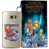 Star Wars (Chewbacca) Jelly Clear Case For Samsung Galaxy S6 + Pouch