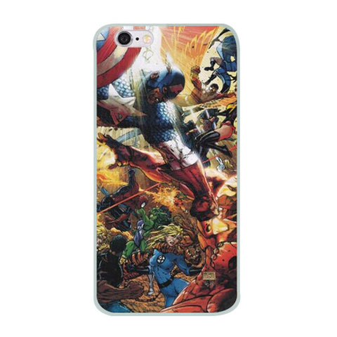 "Captain America Vs. Iron Man (Civil War) TPU Silicone Case for Iphone 6 (4.7"")"