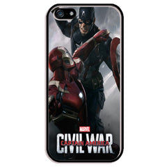 Captain America vs. Iron Man Civil War Movie Poster TPU+PC Case For Apple iPhone 5/5s, SE