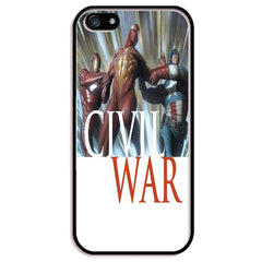 "Captain America v Iron Man v Spider Man (Civil War) TPU+PC Case For Apple iPhone 6/6s PLUS (5.5"")"