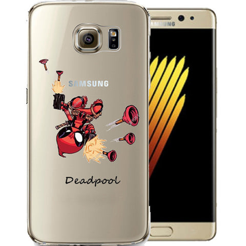 Deadpool Jelly Clear Case for Samsung NOTE 7