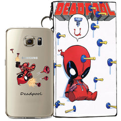 Deadpool Jelly Clear Case For Samsung Galaxy S6 + Pouch