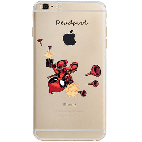 Deadpool Jelly Clear Case for Apple iPhone 7 PLUS