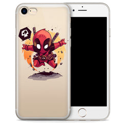 Deadpool (animated) Jelly Clear Case for Apple iPhone 7