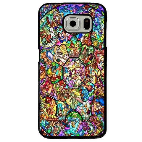 new style f4e1d a5f28 Disney All Characters Stained Glass Samsung Galaxy S7 Edge Case