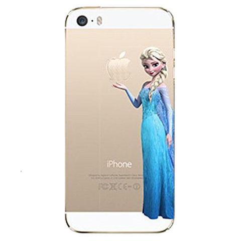 Frozen Elsa Holding Logo Clear Transparent Case For Apple Iphone 5 / 5s / SE