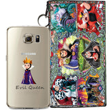 Disney's Villains (Evil Witch) Jelly Clear Case For Samsung Galaxy S7 EDGE + Pouch