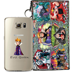 Disney's Villains (Evil Witch) Jelly Clear Case For Samsung Galaxy S7 + Pouch