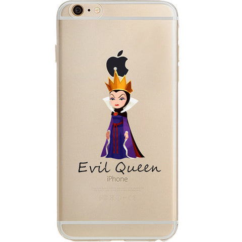 Disney's Villains (Evil Queen) Jelly Clear Case For Apple Iphone 6/6s PLUS (5.5-Inch)