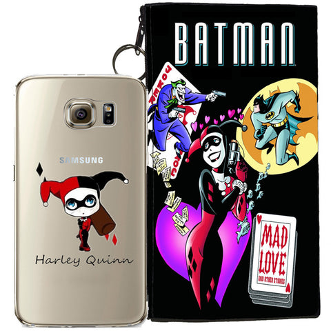 Harley Quinn Jelly Clear Case For Samsung Galaxy S7 + Pouch