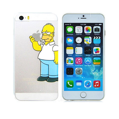 the latest 4fc3c a44c5 Homer Simpson Eating Logo Clear Transparent Case For Apple Iphone 6/6s  (4.7-Inch)