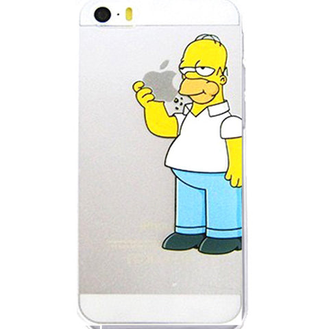 the latest a16a2 8710b Homer Simpson Eating Logo Clear Transparent Case For Apple Iphone 6/6s  (4.7-Inch)