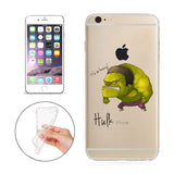 "The Hulk Jelly Clear Case for Apple iPhone 6/6s PLUS (5.5"")"