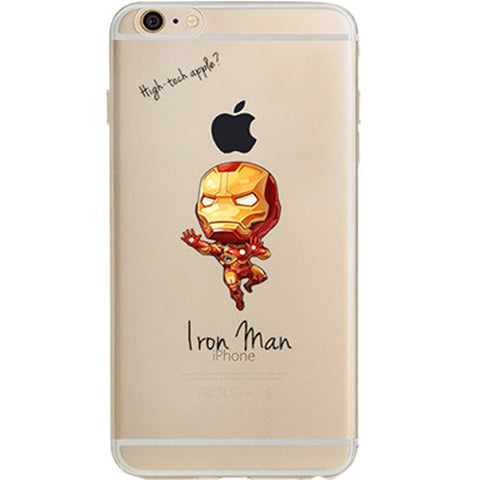 Iron Man Jelly Clear Case for Apple iPhone 7