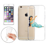 Disney's Aladdin (Jasmine) Jelly Clear Case For Apple Iphone 7 PLUS (5.5-Inch)