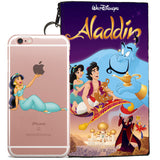Disney's Aladdin Jelly Clear Case For Apple Iphone 6/6s PLUS + Pouch
