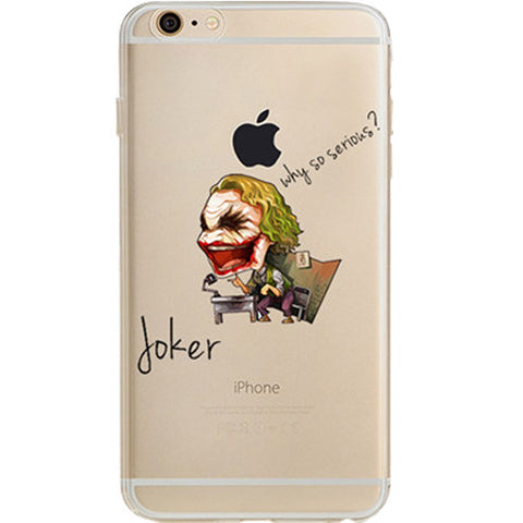 new concept 00f39 b17ac Dark Knight Joker Jelly Clear Case for Apple iPhone 6/6s PLUS (5.5