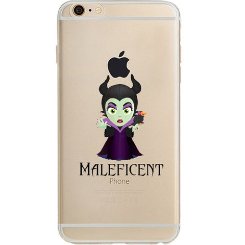 Disney's Villains (Maleficent) Jelly Clear Case For Apple Iphone 7