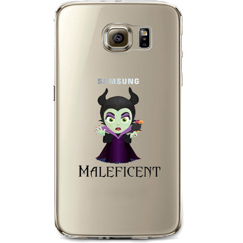 Disney's Villains (Maleficent) Jelly Clear Case for Samsung Galaxy S7