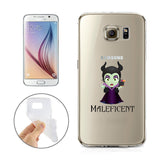 Disney's Villains (Maleficent) Jelly Clear Case For Samsung Galaxy + Pouch (Galaxy S6, S7, S7 EDGE)