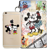 Disney's Mickey & Minnie Jelly Clear Case For Apple Iphone 7 + Pouch
